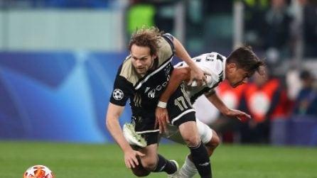 L'infortunio di Paulo Dybala durante la gara di Champions con l'Ajax
