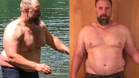 Papà 40enne perde 40 kg in 150 giorni e si dedica al fitness: la trasformazione è straordinaria