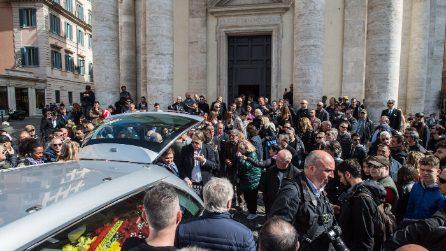 I funerali di Massimo Marino a piazza del Popolo