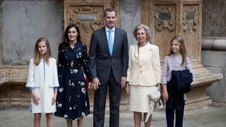I reali di Spagna alla messa di Pasqua