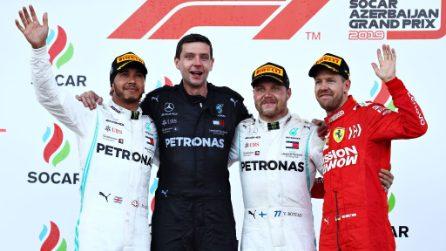 Mercedes da padrona, a Baku è ancora doppietta con Bottas-Hamilton