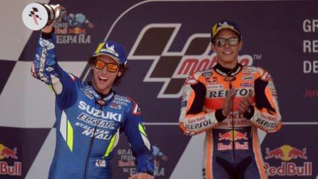 MotoGP, a Jerez vince Marquez, Rins e Vinales sul podio