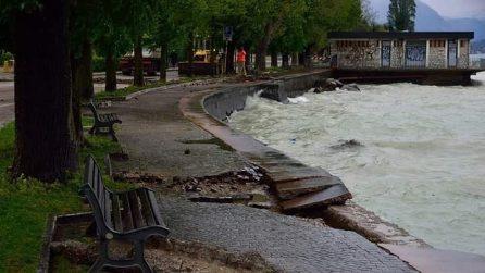 Bufera di vento e pioggia su lago di Garda: chiesto lo stato di calamità naturale