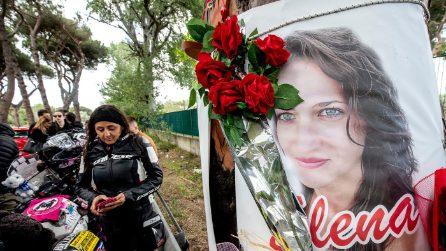 Un anno dalla morte di Elena Aubry, il corteo dei motociclisti sul luogo dell'incidente