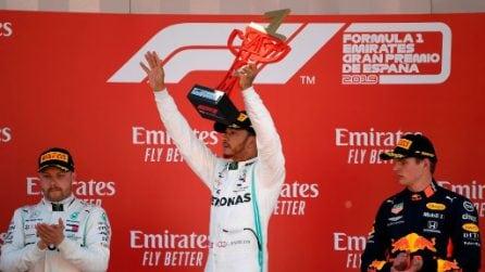 In Spagna arriva la quinta doppietta per Mercedes, Hamilton vince e torna leader del mondiale