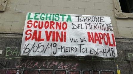 """""""Salvini, Napoli ti odia"""": spuntano striscioni contro il vicepremier"""