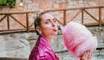 Chiara Ferragni in total pink per la festa a Gardaland