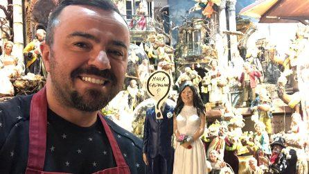 Napoli, sul presepe il matrimonio di Pamela Prati con Mark Caltagirone