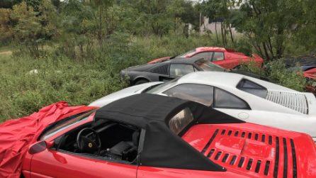 Undici Ferrari abbandonate in un campo in Texas