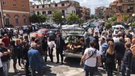 Monterotondo: funerali di Lorenzo Sciacquatori, il padre violento ucciso dalla figlia Deborah