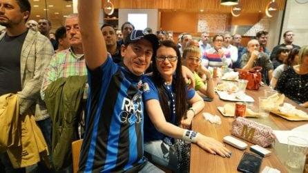 L'attesa e poi la festa dei tifosi, Atalanta in Champions
