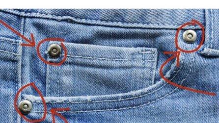 A cosa servono realmente quei piccoli bottoni nelle tasche dei jeans