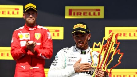 Rabbia Ferrari per la penalità a Vettel, Hamilton vince il GP del Canada tra le polemiche