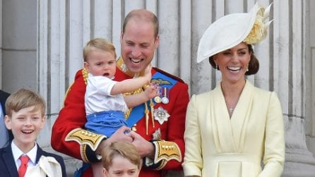 William e Kate con i Royal Baby al Trooping The Colour 2019
