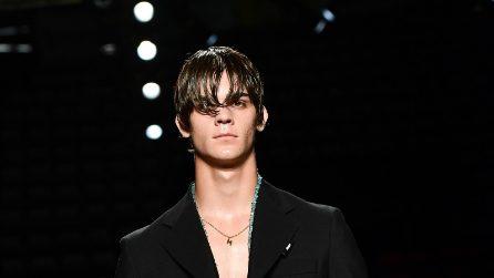 Le foto di Leonardo Tano, il figlio di Rocco Siffredi modello per Pitti Uomo