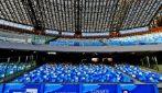 Il nuovo stadio San Paolo di Napoli: maxi-schermi e faretti