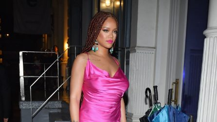 Rihanna in fucsia all'evento newyorkese di Fenty
