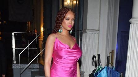 Rihanna in fucsia all'evento newyorkese di Fenty