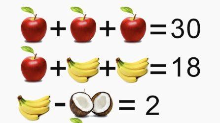 Operazioni con la frutta: qual è il risultato finale?