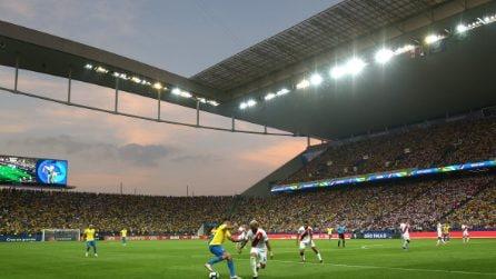 Copa America, le immagini di Perù-Brasile
