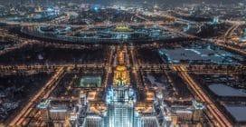 Mosca, la vista aerea è semplicemente mozzafiato