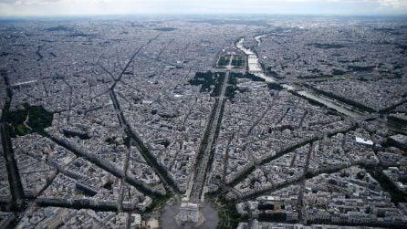 La vista dall'alto mozzafiato di Parigi