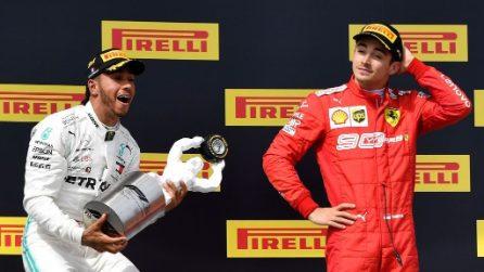 Hamilton e la Mercedes dominano in Francia, Leclerc salva l'onore Ferrari