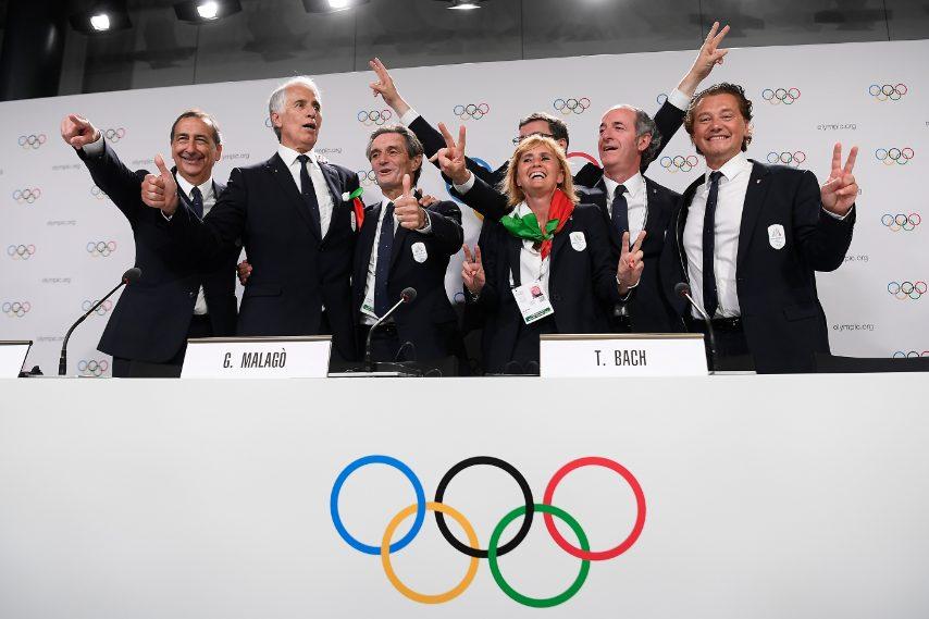 La festa della delegazione italiana