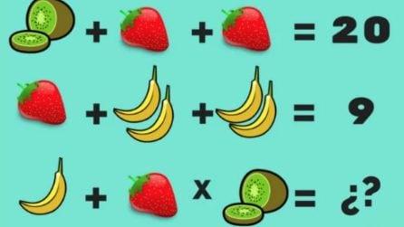 Qual è il risultato finale? Risolvi l'operazione al gusto di frutta