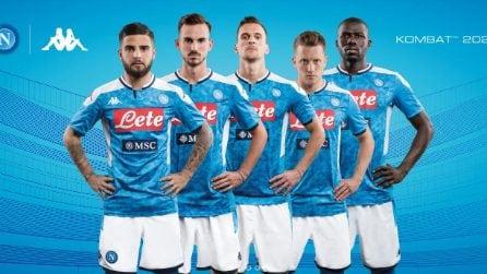 La nuova maglia del Napoli stagione 2019/2020