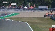 MotoGp Assen, brutta caduta per Rossi. A terra anche Nakagami