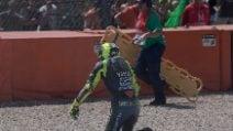 MotoGP, le foto della caduta di Valentino Rossi ad Assen