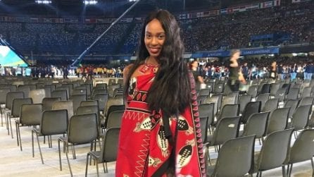 Universiadi Napoli, tutti pazzi per la bellissima atleta dell'Eswatini