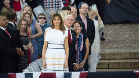 Il look di Melania Trump all'Indipendence Day 2019