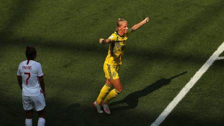 Mondiali femminili 2019, le immagini di Inghilterra-Svezia