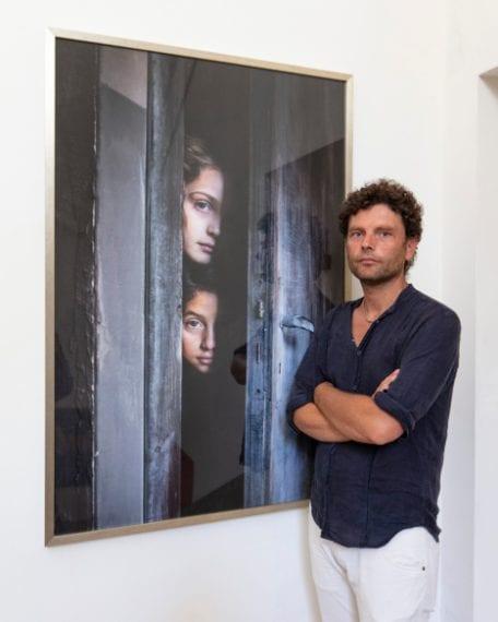 Eduardo Castaldo alla mostra al Museo Madre di Napoli