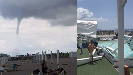 Tromba d'aria tra Licola e Varcaturo: le immagini diffuse su Facebook