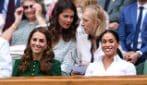 Kate Middleton e Meghan Markle al centrale di Wimbledon per la finale femminile