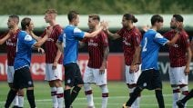 Milan-Novara 1-1, le immagini dell'amichevole