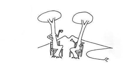 I disegni di Luciano De Crescenzo