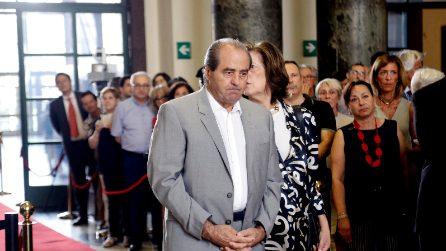 """Lacrime per Di Pietro alla camera ardente per Borrelli. Colombo: """"Mani Pulite finita, corruzione no"""""""