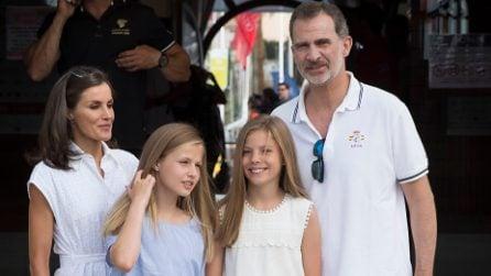 La famiglia reale spagnola in vacanza a Palma di Maiorca
