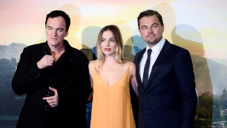 Tarantino, Leo DiCaprio e Margot Robbie a Roma per 'C'era una volta a... Hollywood'