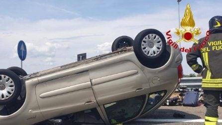 Autostrada A4: incidente tra camper e auto all'altezza di Mesero