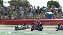 MotoGP, la fotosequenza dell'incidente tra Dovizioso e Quartararo
