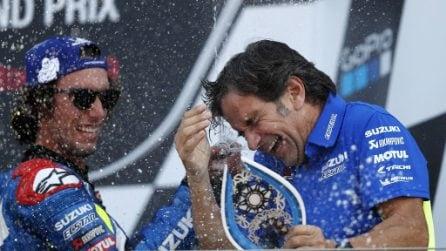 MotoGP, capolavoro di Rins a Silverstone, Marquez battuto ancora in volata