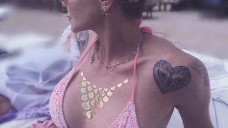 I tatuaggi di Paola Barale