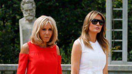 I look di Melania Trump e Brigitte Macron al G7 di Biarritz
