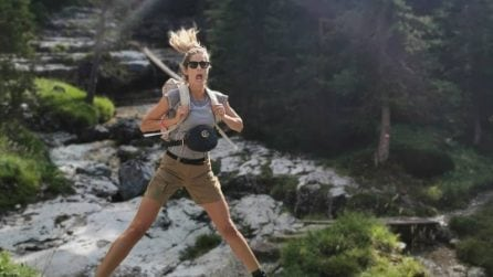 "Elena Santarelli, estate ""alternativa"" in montagna"