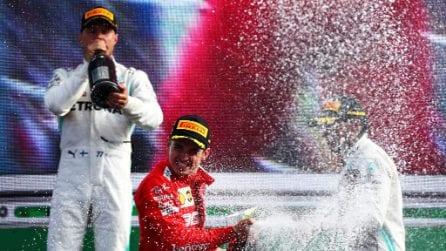 Trionfo Ferrari nel GP d'Italia, Leclerc interrompe il digiuno a Monza